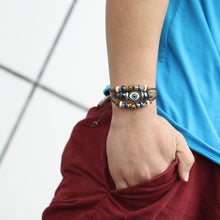 Load image into Gallery viewer, Retro Multilayer Leather Beaded Boho Bracelet Bangle Wristband