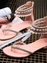 Load image into Gallery viewer, Behemian Summer Ankle Straps Fashion New Beaded Sandals Women's Shoes