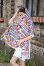 Load image into Gallery viewer, Vintage Bohemia Tassel Beach Sun Protection Shawls Air Conditioning Scarfs