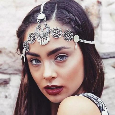 Retro Bohemia Water Drop Tassels Headwear Accessories