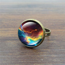 Load image into Gallery viewer, Starry Time Gemstone Adjustable Bronze Ring