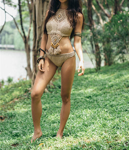 2018 Sexy Knit Beach Swimwear Bikini Sets