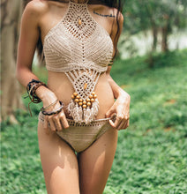 Load image into Gallery viewer, 2018 Sexy Knit Beach Swimwear Bikini Sets