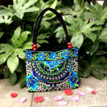 Load image into Gallery viewer, Bayberry Embroidery Ethnic Travel Women Shoulder Bags Handmade Canvas Wood Beads Handbag