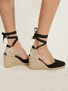2018 Bandage Wedge Heels Beach Casual Shoes For Women