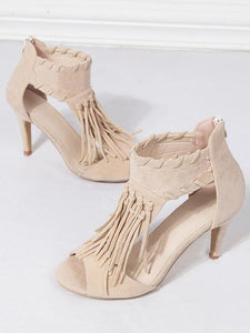 Fashion Tassels Heels Shoes For Women