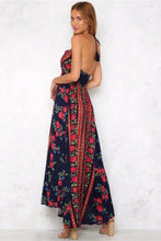 Load image into Gallery viewer, Sexy Printed Halter Beach Bohemia Maxi Dress