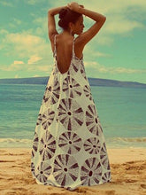 Load image into Gallery viewer, Printed Spaghetti Strap Bohemia Beach Maxi Dress