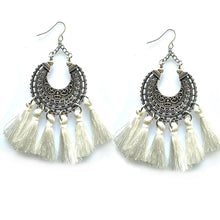 Load image into Gallery viewer, New Earrings for Xmas party beautiful round tassel bohemia earrings