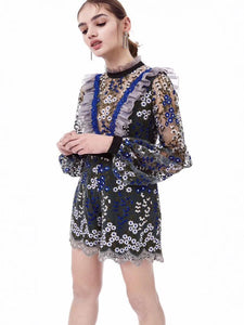 Embroidery Long Sleeves Rompers