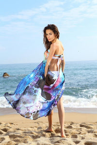 Hot Sexy Chiffon Strapless Backless Split Beach Bikini Cover Up