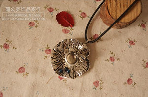 Ancient Made Old Cotton and Linen Accessories Simple Lotus Leaf Dragonfly Necklace Sweater Chain