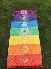 Load image into Gallery viewer, Unique Rectangle Rainbow Summer Beach Towel Yoga Mat