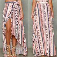 Load image into Gallery viewer, New Bohemia Printing Chiffon Split-side Cover-up Beach Skirt