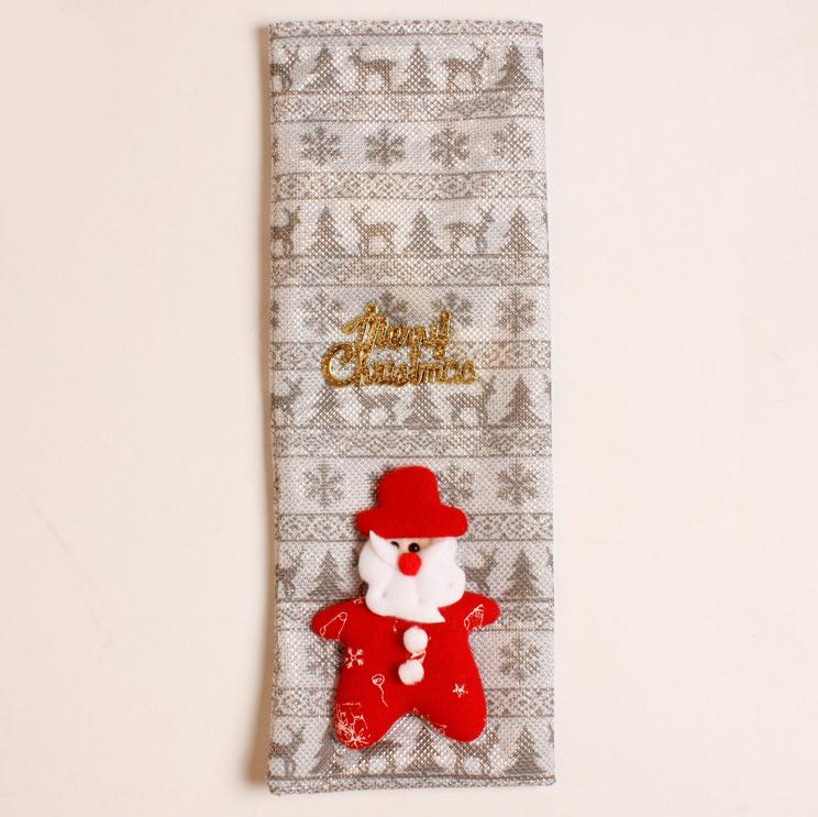 Xmas Wine Bottle Cover Bag Christmas table set