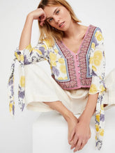 Load image into Gallery viewer, Summer Loose Bat Sleeves Straps V-Neck Beach Print Tops