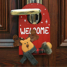 Load image into Gallery viewer, Santa Deer Pattern Door Decor for House Bar Christmas Decoration