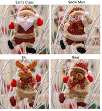 Load image into Gallery viewer, Santa Clause Bear Snowman Elk Doll Hanging Ornaments Tree Decoration