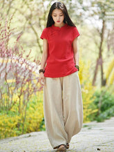 Load image into Gallery viewer, Linen Cotton Vintage High Waist Pants
