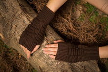 Load image into Gallery viewer, Half refers to the warm knit typing women s thick wool Half palm gloves - 4