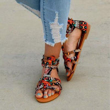 Load image into Gallery viewer, Summer Bohemia Flat Heel Beach Sandals
