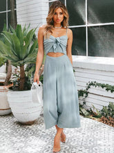 Load image into Gallery viewer, Spaghetti Strap Solid Color Wide Leg Pants Jumpsuit Romper