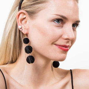 Handmade cute ball lantern ear stud earrings bohemia