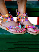 Load image into Gallery viewer, Floral Summer Beach Sandals
