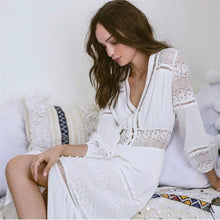 Load image into Gallery viewer, 2018 new arrival Sexy crocheted lace dress single-breasted lady dress