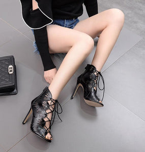 High Heel Hollow Women Large Size Sandals