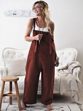 Load image into Gallery viewer, High-Waist Loose Suspender Trousers