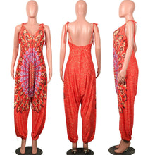 Load image into Gallery viewer, Boho Ethnic Style Bandage Jumpsuit
