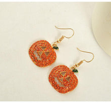 Load image into Gallery viewer, Halloween Pumpkin Earring Accessories