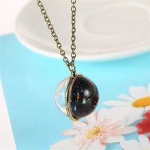 Load image into Gallery viewer, Universe Solar System Pendent Double-Sided Glass Ball Necklace