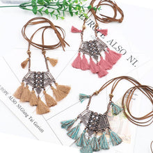 Load image into Gallery viewer, Vintage Boho Bohemian Ethnic Statement Tassel Pendant Necklace