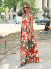 Load image into Gallery viewer, Bohemia Floral V-neck Maxi Dresses