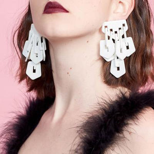 Resin Exaggerated Acrylic Fashion Earrings