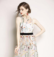 Load image into Gallery viewer, Sleeveless Embroidered Beach Dress