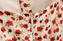 Load image into Gallery viewer, FLORAL BUTTON TIGHT-FITTING LONG DRESS