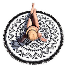 Load image into Gallery viewer, Hot Sale tassel beach towel sun shawl Variety scarf yoga cushion Mat