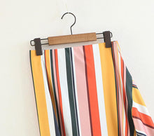 Load image into Gallery viewer, Stripe Irregular Fashion Beach Skirt