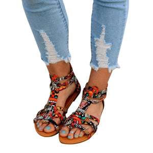 Summer Bohemia Flat Heel Beach Sandals