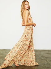 Load image into Gallery viewer, Floral Print Halter Beach Bohemia Maxi Dress