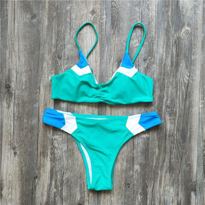 Split Bikini Color Matching Sexy Swimsuit
