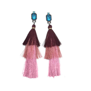 Fashion New drop earring handmade long tassel pendant ethnic fringed earrings vintage for bohemia Xmas party