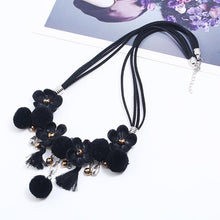 Load image into Gallery viewer, Rhinestone Resin Bead Flower Necklace Accessories