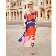 Load image into Gallery viewer, Floral Long Sleeve Beach Bikini Cover Up Maxi Dress