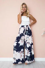 Load image into Gallery viewer, Floral Print High Waist Loose Wide Leg Pants
