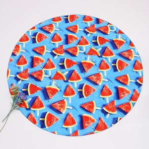 CREATIVE WATERMELON PRINTED Round BEACH Mat