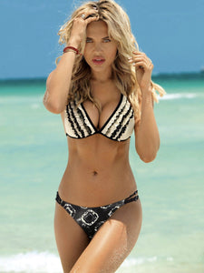 New Split Bikini Fashion Flash Print Swimsuit